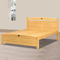 HAPPYHOME 安麗檜木5尺雙人床架701-4不含床頭櫃-床墊