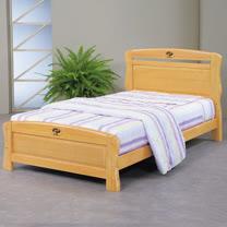 HAPPYHOME 艾莉絲3.5尺檜木加大單人床架702-1不含床頭櫃-床墊