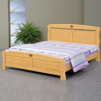 HAPPYHOME 艾莉絲5尺檜木雙人床架702-2不含床頭櫃-床墊