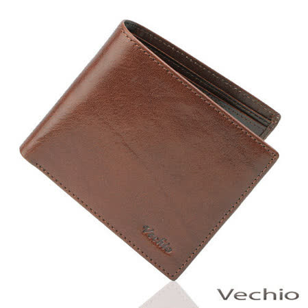VECHIO 原皮系列基本款短夾(褐色)VE031W01BR