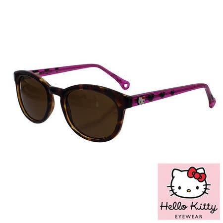 法國 Hello Kitty 兒童太陽眼鏡 - 夢幻愛心款, 玳瑁 / 紫