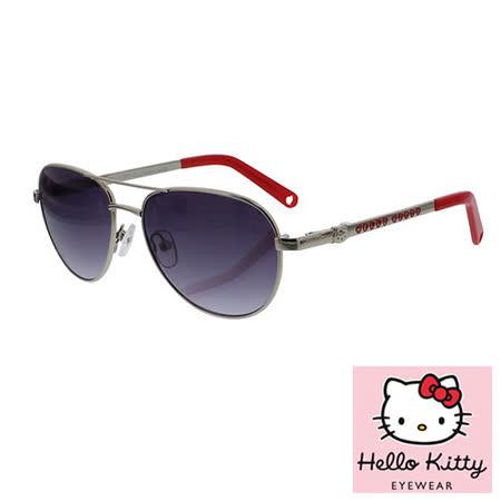 法國 Hello Kitty 兒童太陽眼鏡 - 復古雷朋飛行員款, 銀色