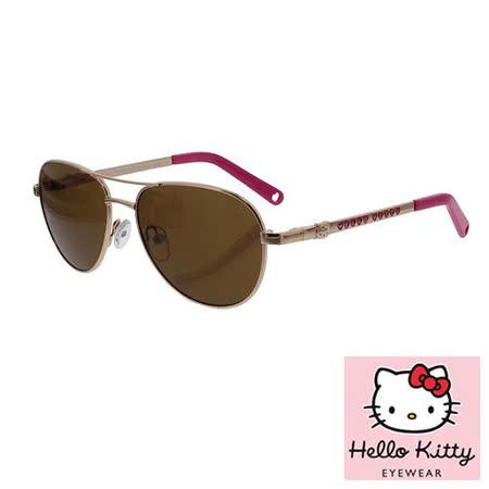 法國 Hello Kitty 兒童太陽眼鏡 - 復古雷朋飛行員款, 金色