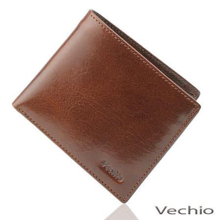 VECHIO 原皮系列八卡短夾(褐色)VE031W04BR