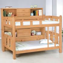 HAPPYHOME 貝比雲3.7尺檜木邊櫃雙層床711-1不含床墊