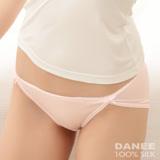 岱妮蠶絲 - (LA0028E)雙蝴蝶結低腰高衩女內褲/42針雙面70G-(粉紅)