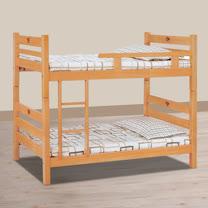 HAPPYHOME 貝克檜木色3.2尺單欄雙層床715-1不含床墊