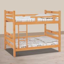 HAPPYHOME 貝克檜木色3.2尺全欄雙層床715-2不含床墊