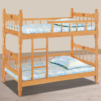 HAPPYHOME 成號3.2尺白木方柱全欄雙層床716-4不含床墊