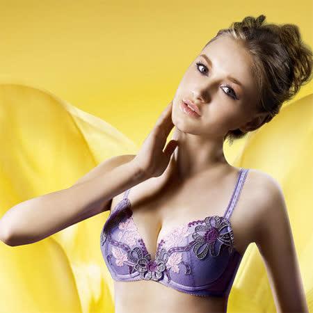 【華歌爾】伊珊露絲Ballet現代芭蕾D罩杯內衣(緞帶紫)
