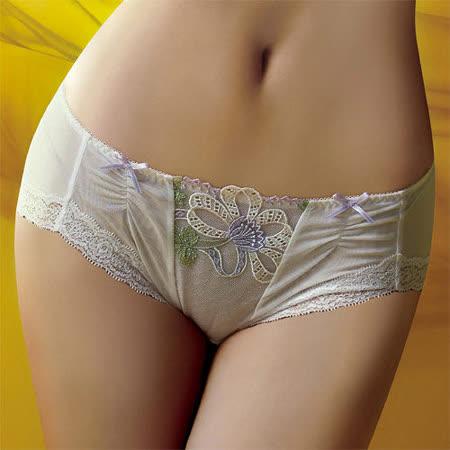 【華歌爾】伊珊露絲Ballet現代芭蕾M-LL中腰平口褲(舞裙白)