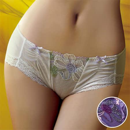 【華歌爾】伊珊露絲Ballet現代芭蕾M-LL中腰平口褲(緞帶紫)