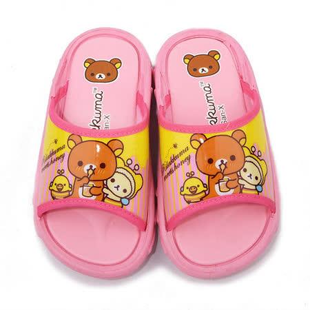 童鞋城堡-拉拉熊 中童 戶外拖鞋KM26028-粉