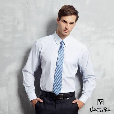 Valentino Rudy范倫鐵諾.路迪-長袖襯衫-淡藍直條