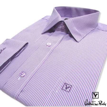 Valentino Rudy范倫鐵諾.路迪-長袖襯衫-紫直條