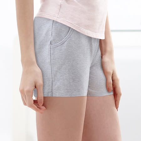 【黛安芬】有機棉系列 休閒短褲款 M-EL(沉穩灰)