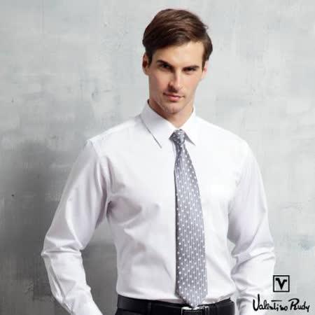 Valentino Rudy范倫鐵諾.路迪-長袖襯衫-白色斜紋