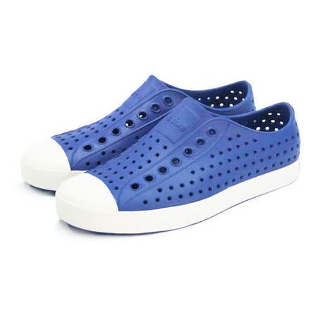 (男女)native JEFFERSON 懶人鞋 維多利亞藍/貝殼白-001004361