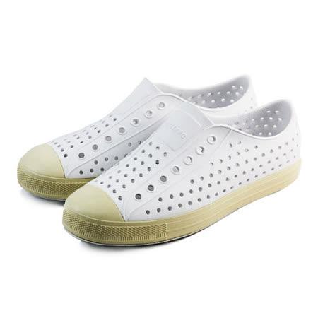 (男)native JEFFERSON 懶人鞋 白/奶油-GLM01110