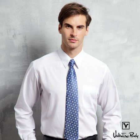 Valentino Rudy范倫鐵諾.路迪-長袖襯衫-白色絲質