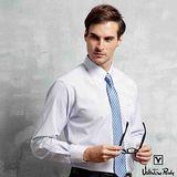 Valentino Rudy范倫鐵諾.路迪-【修身版】長袖襯衫-粉藍直條