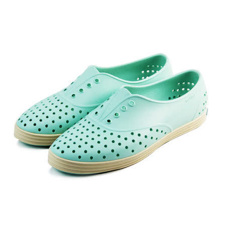 (女)native JERICHO 懶人鞋 淺綠/奶油-GLM04W335