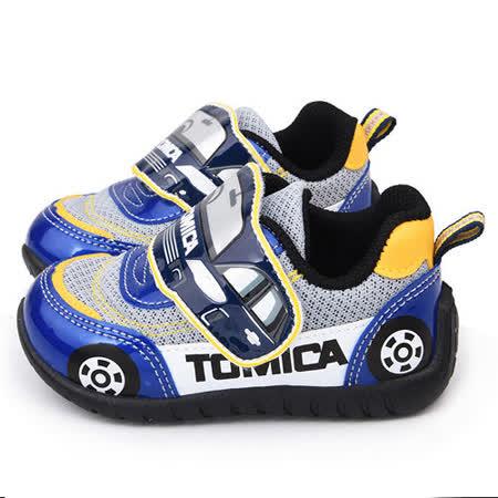 童鞋城堡-Tomica多美小汽車 中童 汽車造型運動鞋TM7751-藍