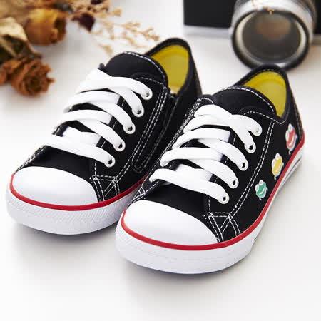 中國強 MIT 經典兒童帆布鞋B20(黑)