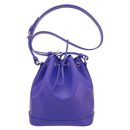 LV 【M40845】經典EPI水波紋Noe BB束口肩背水桶包(紫/MINI)
