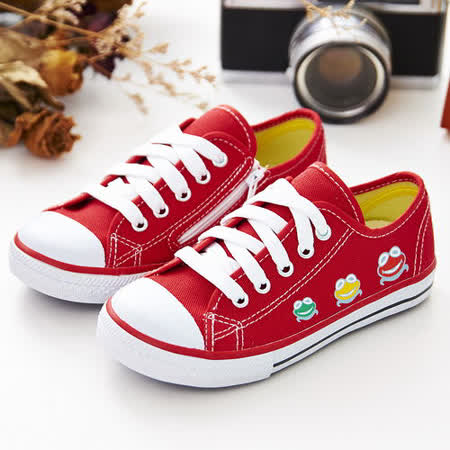 中國強 MIT 經典兒童帆布鞋B20(紅)