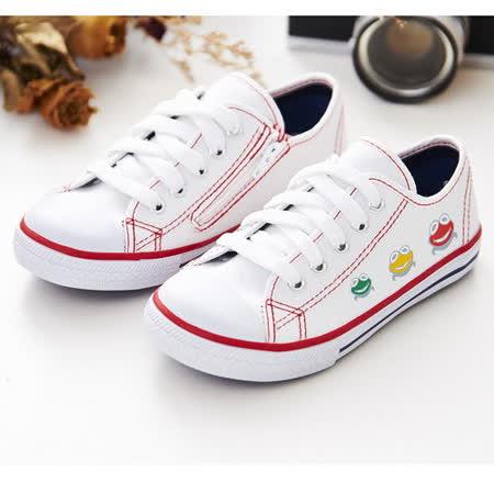 中國強 MIT 經典兒童帆布鞋B20(白)