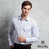 Valentino Rudy范倫鐵諾.路迪-【修身版】長袖襯衫-水藍直條(暗釘釦領)