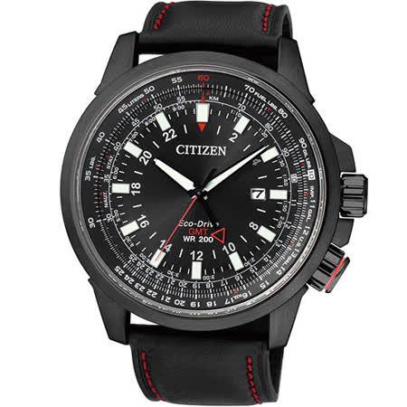 星辰 CITIZEN PROMASTER 光動能領航雙時區時尚腕錶 BJ7076-00E