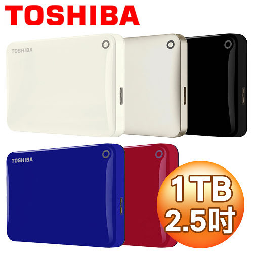 Toshiba 東芝 Canvio Connect II V8 1TB USB3.0 2.5吋行動硬碟《多色任選》
