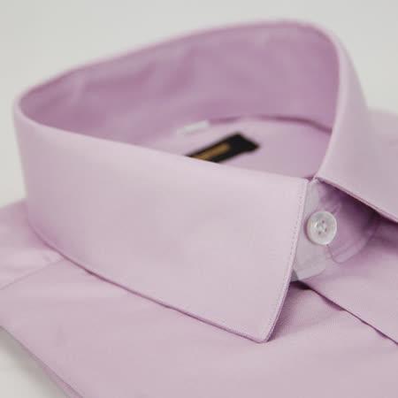 【金安德森】粉紫色壓光窄版長袖襯衫