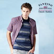 【FANTINO】男款 奧地利進口格紋棉質襯衫 534329