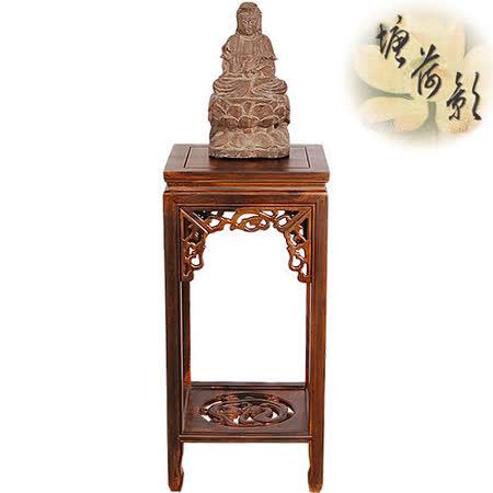 【塘荷影】古龍雕刻花台