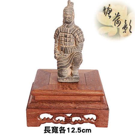 【塘荷影】黑雞翅木繪紋正方台(12.5cm)