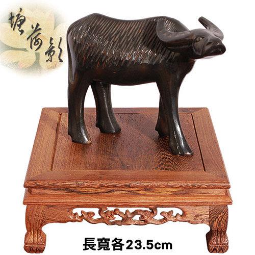 ~塘荷影~黑雞翅木虎腳正方台^(23.5cm^)