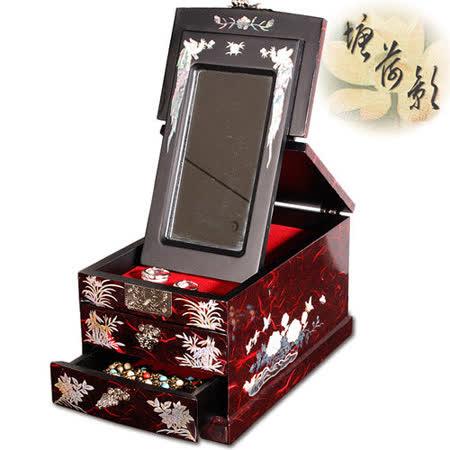 【塘荷影】漆器珠寶盒(祥鶴)