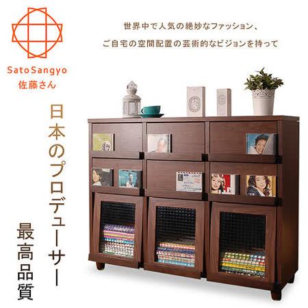 【Sato】PLUS時間旅人六抽三門收納書櫃‧幅111cm