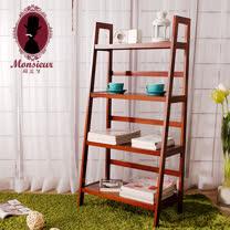 私の部屋實木四層梯形架