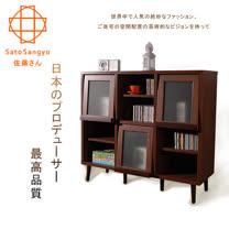 【Sato】PUREMO黑川三門開放式收納櫃‧幅108cm