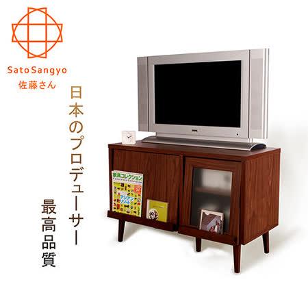 【Sato】PUREMO黑川雙門視聽電視櫃‧幅88cm