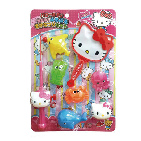 任選【BabyTiger虎兒寶】《三麗鷗》HELLO KITTY 磁鐵釣竿撈魚組