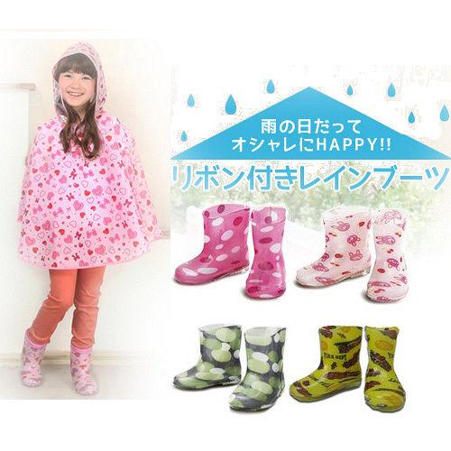 【Rainy days】果凍色系兒童雨鞋13-15cm 2雙(款式隨機)