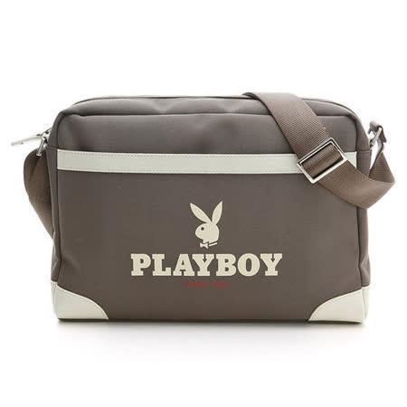 PLAYBOY- U- Utility  運動休閒 系列斜背包/咖啡色