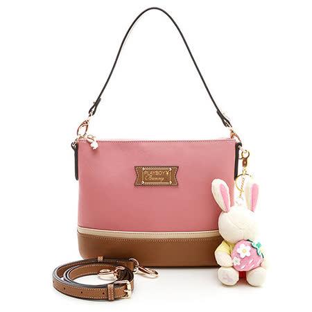 PLAYBOY- Strawberry 草莓兔系列2WAY斜背包-粉紅色