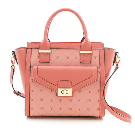 PLAYBOY- Heritage 系列2WAY手提包-粉紅色