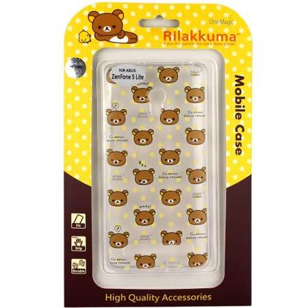 Rilakkuma 拉拉熊/懶懶熊 Asus Zenfone 5 Lite (A502CG) 彩繪透明保護軟套-繽紛大頭熊